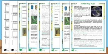 KS2 Earth Day Differentiated Comprehension Go Respond Activity Sheets English/Polish - KS2, Earth Day, reading, comprehension, understand, environment, climate change, recycling, global i