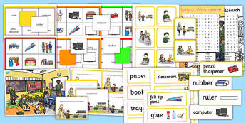 School Vocabulary and Comprehension Pack - vocabulary, pack