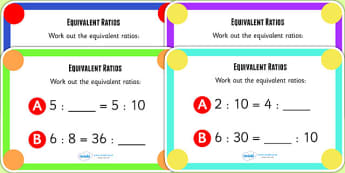Ratio and Proportion 2 Challenge Cards- data handling, maths