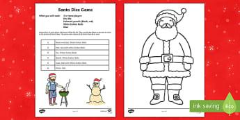 Santa Dice Game