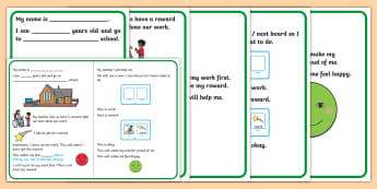 We Do Our Work First Social Stories - Working Hard, social story, now next, work first, autism, ASD, classroom rules