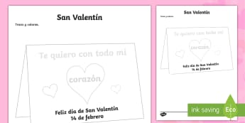 Valentine's Day Tracing Activity Sheet - Valentines Day, 14th February, activity, sheet, tracing, love, worksheet - Valentines Day, 14th February, activity, sheet, tracing, love, worksheet