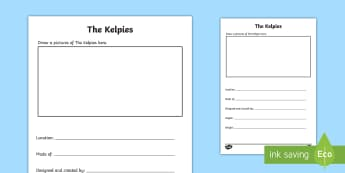 CfE The Kelpies Pupil Fact File - Scottish Landmarks,factfile, Kelpies, research, template, CfE, Pupil research,,Scottish