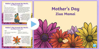 Mother's Day PowerPoint English/Romanian - CfE Mother\'s Day March 26thMother\'s Day around the worldMother\'s day traditions,Scottish, e