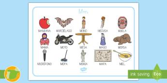 Tapiz de lecto: La letra M Sound Mat - lecto, leer, lectura, sonidos, lecto-escritura, fonemas, sonidos, consonantes, letra m, fonema m, so
