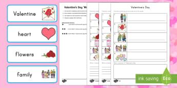 Valentine's Day 'Write the Room' Activity - Valentine's Day, love, key vocabulary, writing, sentence work, spelling, reading