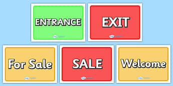 General Role Play Display Signs - Role play, sign, signs, entrance, exit, open, closed