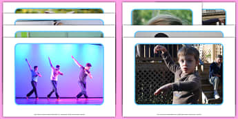 Dance Freeze Display Photos - Eyfs, physical development, movement, actions