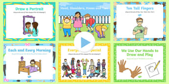 All About Me/Ourselves Songs and Rhymes PowerPoints Pack
