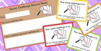 Secret Challenge Social Skills Cards Set 2 - activity, activities