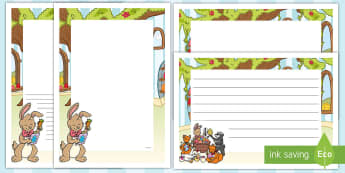 Saving Easter Page Border Pack - Children's Books, saving easter, easter, easter eggs, easter bunny, borders, writing