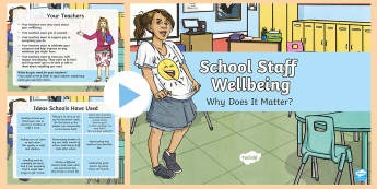 School Staff Wellbeing Discussion PowerPoint - wellbeing, teachers, TAs, health, wellness, kindness, mental, thoughtful
