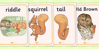 The Tale of Squirrel Nutkin Display Posters - squirrel nutkin