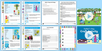 Father's Day Creativity Lesson Pack - love, dad, Present, Card, poems, poem, celebration, Appreciation, family, Poetry