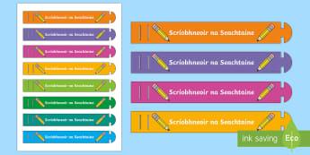 Writer of the Week (Scríobhneoir) Wristband Gaeilge - Certificates, wristband, writer of the week, scríobhneoir na seachtaine, award, reward, prize, ag s