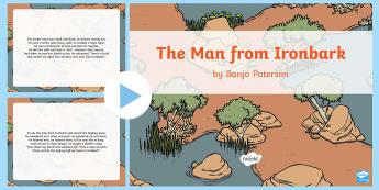 Banjo Paterson 'The Man from Ironbark'  - Banjo Paterson, Australian Poets, Poem