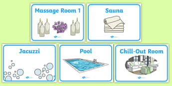 The Spa Role Play Signs - spa, role play, the spa, health and wellbeing, signs