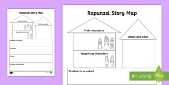 Rapunzel Story Map - - Rapunzel Story Map, Rapunzel, story map, traditional tale,