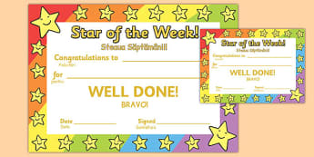 Star of the Week Romanian Translation - romanian, star of the week, star, week