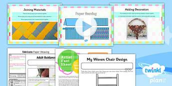 PlanIt - Art KS1 - Fabricate Lesson 1: Paper Weaving Lesson Pack - planit