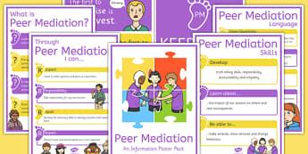 Peer Mediation Poster Pack - peer mediation, poster pack, poster, pack, display