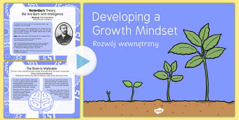 Growth Mindset Powerpoint Polish/English