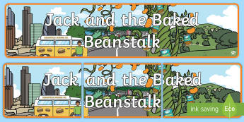 Display Banner to Support Teaching on Jack and the Baked Beanstalk - Jack and the Beanstalk, baked beans, Display Banner, Jack and the Beanstalk, Colin Stimpson, display