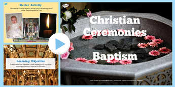 Christian Baptism Lesson Teaching Pack - religion, christianity