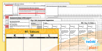 PlanIt - RE Year 3 - Sikhism Assessment Pack - planit, re, religious education, year 3, assessment pack