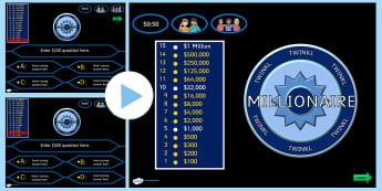 Who Wants to be a Millionaire Adaptable PowerPoint Template - who wants to be a millionaire, adaptable powerpoint, powerpoint, template, quiz, games