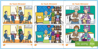 The Nursing Home Aistear Spot the Differences Activity Sheet - Aistear, Infants, English Oral Language, School, The Garda Station, Worksheet, The Hairdressers, The