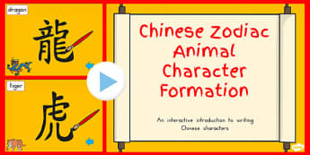 Chinese New Year Character Writing Formation PowerPoint Activity