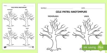 Copacul anotimpurilor - anotimpuri, vremea, română, materiale, fenomene meteo, caracteristicile anotimpurilor, stiinte, ș