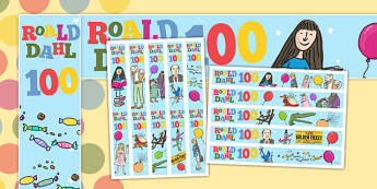 Roald Dahl 100 Display Borders