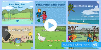 Water Songs and Rhymes PowerPoints Pack - EYFS Water, water cycle, rain, rivers, sea, oceans, evaporation, condensation, clouds, vapor