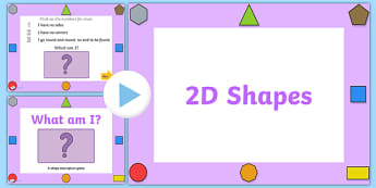 What Am I 2D Shape Properties PowerPoint - 2D shapes, two dimentional shapes, shape properties, 2D shape properties, powerpoint, shape powerpoint, shapes
