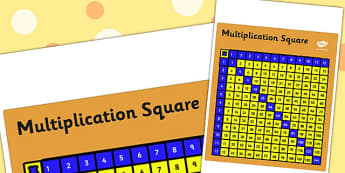 Multiplication Square For Visually Impaired - numeracy, numbers