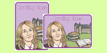 Rowling Class Display Signs - j k rowling, harry potter, magic, wizards, hogwarts, hermione granger, ron weasley, book, novel, story, class, display signs