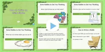 How to write an Irish Riddle PowerPoint - NI St. Patrick's Day Resources KS2, riddle, poetry, paddy's day, literacy, writing, creative writi