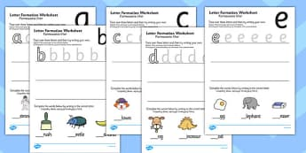 Letter Formation Worksheets Polish Translation - writing, english, fine motor skills, presentation, KS1, key stage 1