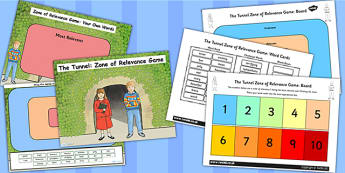 Zone of Relevance Game Differentiated Lesson Teaching Pack (Flipchart) to Support Teaching on The Tunnel