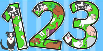 Themed A4 Display Numbers to Support Teaching on Farmyard Hullabaloo - farm, numbers
