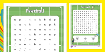 Rio 2016 Olympics Football Word Search - Rio, footballer, events, Olympic, literacy, letters