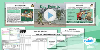 PlanIt History UKS2 World War II Lesson 6: Key Events Lesson Pack
