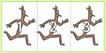 Numbers 0-20 to Support Teaching on Stick Man - stick man, numbers, 0-20, story, christmas