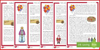 Guía para celebrar la Navidad 2º de Primaria Comprensión lector de atención a la diversidad-Spanish - Christmas Spain, Navidad, navidades, reyes, festividades, lectura, comprensión lectora, celebrar.,S
