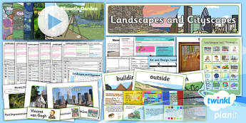 PlanIt - Art and Design KS1 - Landscapes and Cityscapes Unit Pack