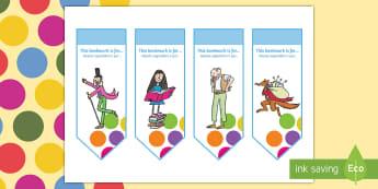 Roald Dahl Bookmarks English/Italian - Roald Dahl Bookmarks - Roald Dahl, bookmarks, roald dahl bookmarks, roald dahl themed bookmarks, roa