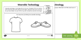 Wearable Technology Activity Sheets - CfE Digital Learning Week (15th May 2017) Digital learning and teaching strategy, digital learning w