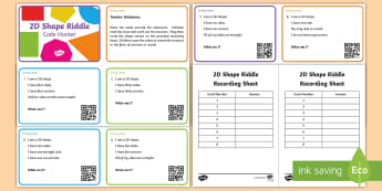 2D Shape Riddle Code Hunter - KS1, Key Stage One, Key Stage 1, Year 1, Year 2, Year One, Year Two, Maths, Numeracy, Shape, Shape R